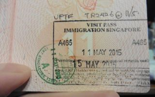 Виза в Сингапур для россиян