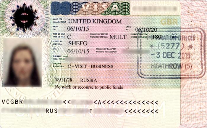 Виза Великобритании для россиян