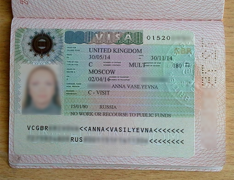 Британская виза для россиян