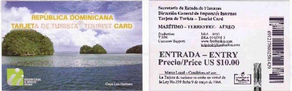 Туристическая карточка Доминикана