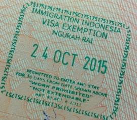 Безвизовый штамп Индонезии