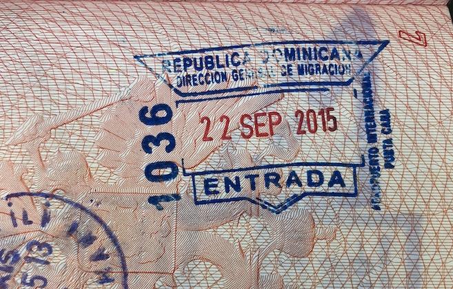 Въездной штамп Доминиканы