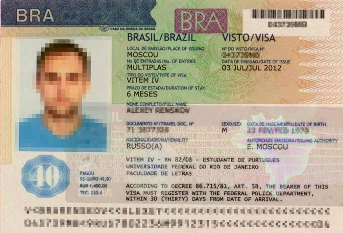 Долгосрочная виза в Бразилию для россиян