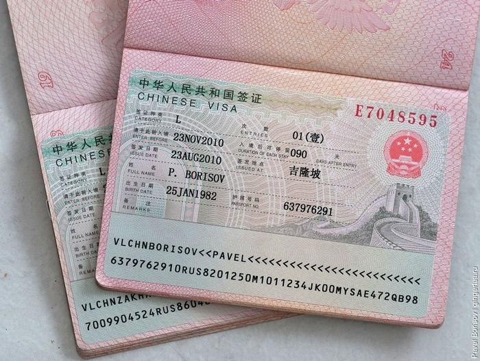 Стоимость визы в КНР для россиян