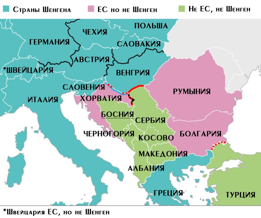Босния и Герцеговина – это Шенген или нет